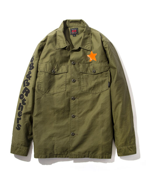 "画像1: ARMY CPO Shirts ""68Logo by Puts"""